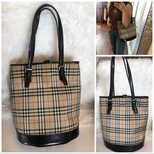 Authentic Burberry Tote Bucket Bag